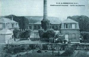 1875 - Ets Gresland - sortie des ouvriers NB