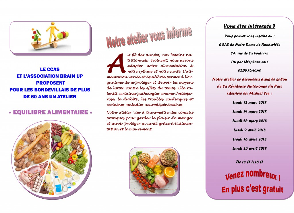 Atelier equilibre alimentaire 2018-2