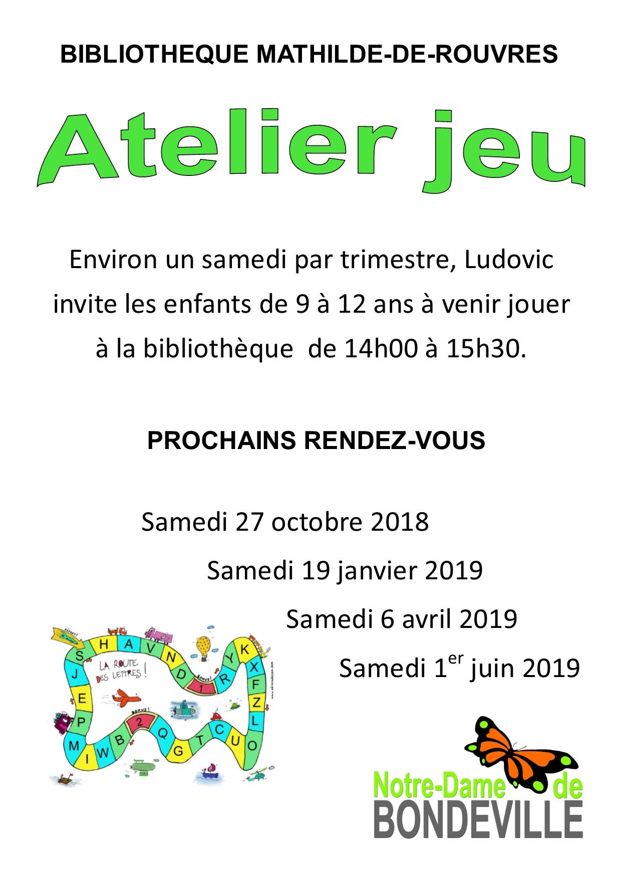 Atelier jeu 2018-2019 Affiche annuelle portrait