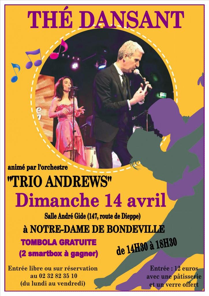 Affiche thé dansant 14 avril