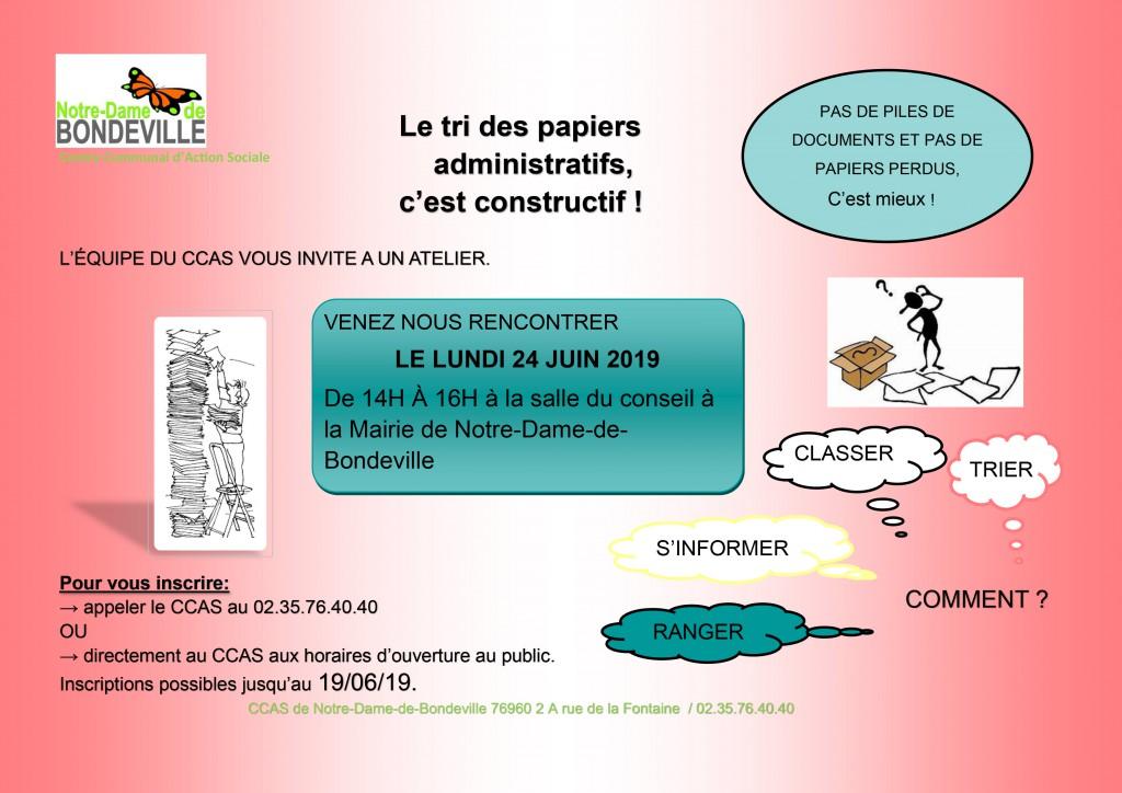invitation atelier tri papier administratif 24-06-2019
